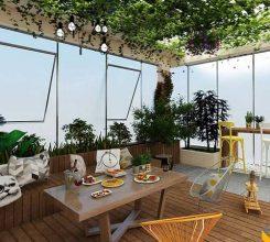 Thiết kế sân vườn sân thượng – Hướng dẫn thiết kế sân vườn sân thượng