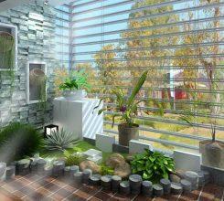 Tiểu cảnh sân vườn trong nhà – Hướng dẫn thiết kế tiểu cảnh sân vườn trong nhà