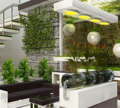 Thiết kế sân vườn giữa nhà – Cách làm sân vườn nhà bạn trở nên đẹp mắt thú vị