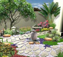 Tiểu cảnh sân vườn sau nhà – Lưu ý trong thiết kế và thi công