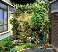 Tiểu cảnh sân vườn trong nhà – Cách thiết kế tiểu cảnh sân vườn trong nhà đẹp khó cưỡng