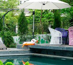 Mẫu thiết kế cho sân vườn nhà biệt thự của anh Trung tại khu du lịch Đại Lải, Vĩnh Phúc